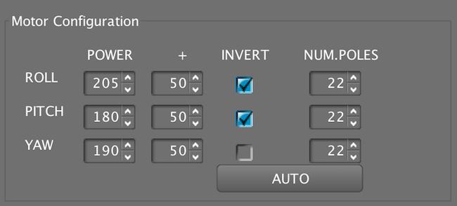 Cametv Motor Invert configuration