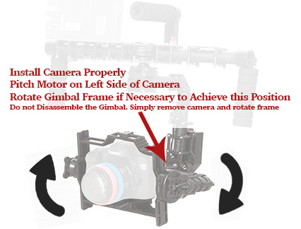 Install Camera Properly Came-TV Gimbal