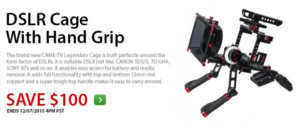 CAME-TV DSLR Cage With Hand Grip