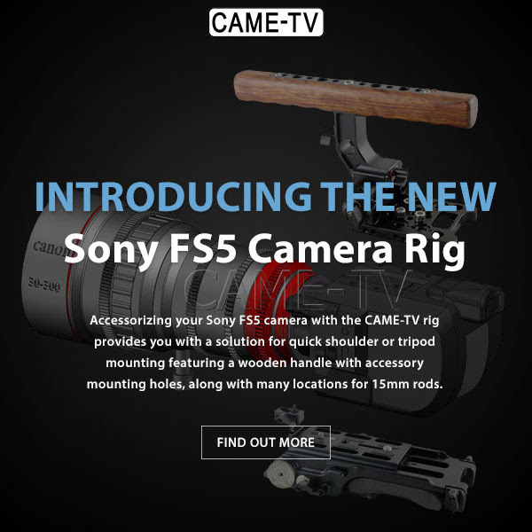 CAME-TV Sony FS5 Camera Rig Wooden Top Handle Base Plate