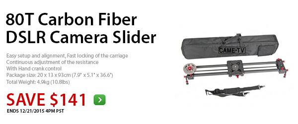 CAME-80T Carbon Fiber DSLR Camera Slider Track Video Stabilizer