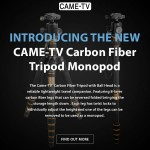 Introducing The New CAME-TV Carbon Fiber Tripod Monopod