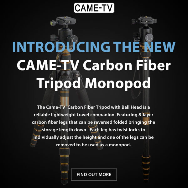 CAME-TV Carbon Fiber Tripod Monopod