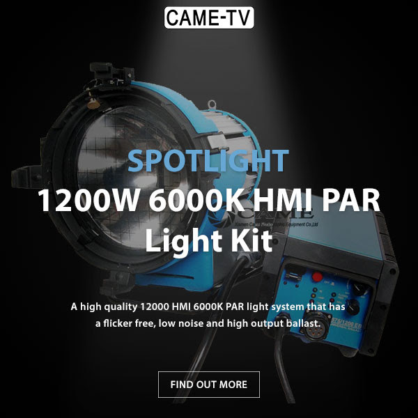 CAME-TV 1200W 6000K HMI PAR Light Kit +100% Flicker-Free