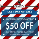 Last Day To Save Big On Our Entire Slider Category! (ENDED)