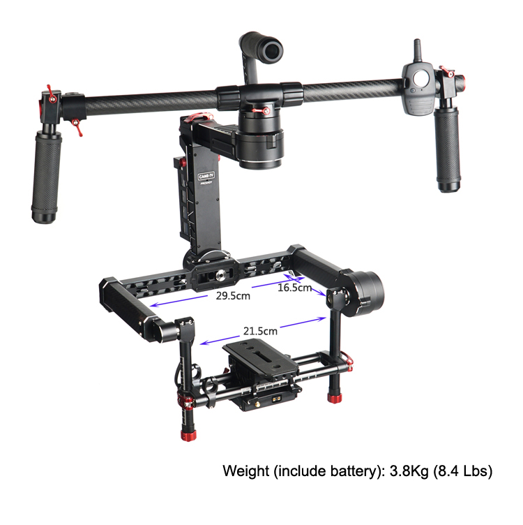 CAME-TV PRODIGY 3 Axis Gimbal Camera 32bit Boards With Encoders