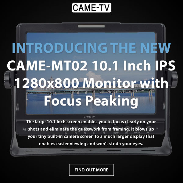 CAME-TV MT02 10.1 Inch IPS 1280x800 Monitor With Focus Peaking