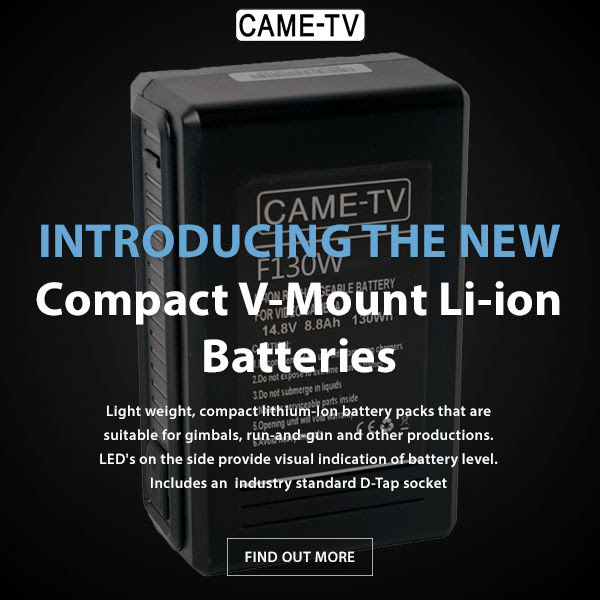CAME-TV Compact V-Mount Li-ion Batteries