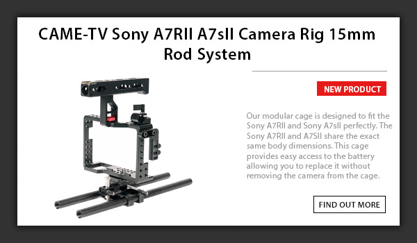 CAME-TV Sony A7RII A7sII Camera Rig 15mm Rod System