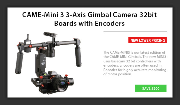 CAME-Mini 3 3-Axis Gimbal Camera 32bit Boards with Encoders