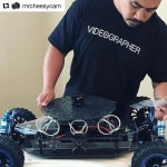 INSTAGRAM: @mrcheesycam setting up our #Cametv #Sailfish #RC #Gimbal car for some tracking shots! #CametvSailfish #CameSailfish #RcCar #GimbalCar #SailfishCar