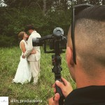 INSTAGRAM: Cool over the shoulder BTS pic of @allin_productions using the #Cametv #Single #Gimbal on a #wedding shoot! #CametvSingle #CameSingle #SingleGimbal #camegimbalsnap5 #singlesnap1 #3axisGimbal