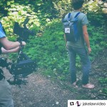 INSTAGRAM: Super cool BTS pic of @jakelawvideo filming w/ our #Cametv #Steadicam paired with the #RED! #CametvSteadicam #CameSteadicam #SteadicamStabilizer #Stabilizer