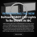 CAME-TV – IBC – New RGBDT Led Lights