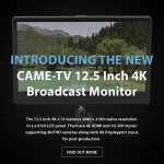 CAME-TV – New 4K Monitor and Base/Adapter Plate
