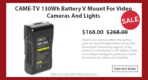CAME-TV 130wh V-mount