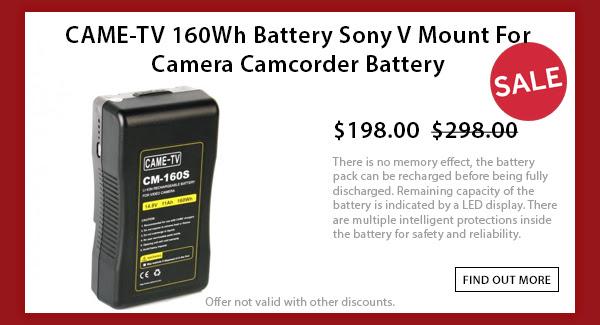 CAME-TV 160wh V-mount