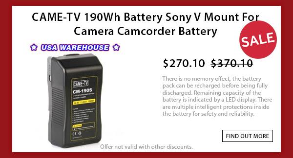 CAME-TV 190wh V-mount