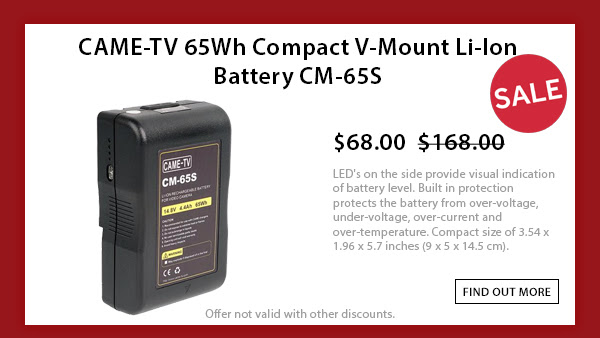 CAME-TV 65wh V-mount