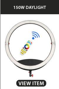 CAME-TV Boltzen Cassiopeia Slim Folding RGBDT 50 Watt Ring Light LED 150w