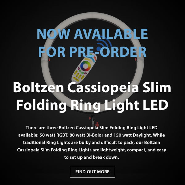 CAME-TV Boltzen Cassiopeia Slim Folding RGBDT 50 Watt Ring Light LED