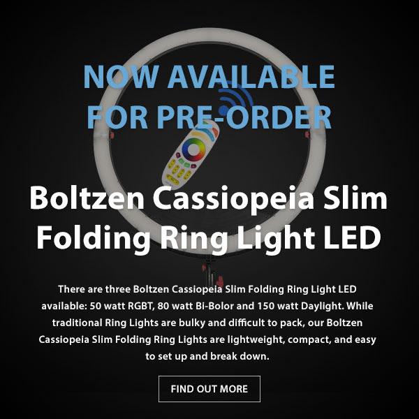 CAME-TV Boltzen Cassiopeia Slim Folding RGBDT 50 Watt Ring Light LED