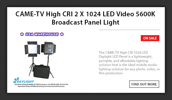 CAME-TV 1024 LED Light Daylight