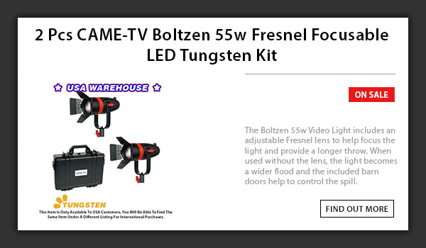 CAME-TV 2pcs Boltzen 55w LED Light