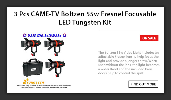 CAME-TV 3pcs Boltzen 55w LED Light