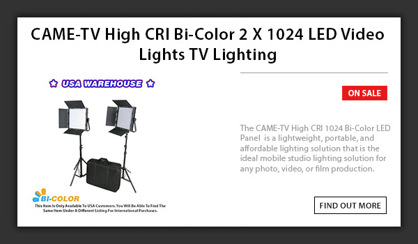 CAME-TV 1024 LED Light Bi-Color