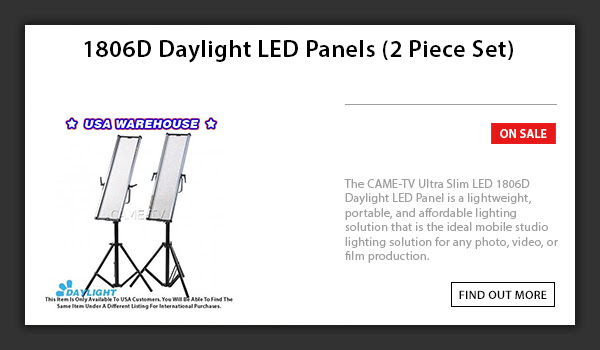 CAME-TV 1806D LED Light