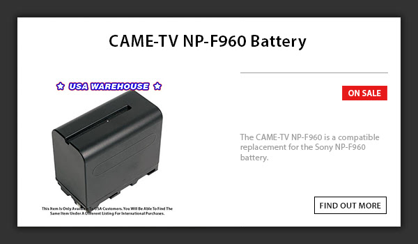CAME-TV NP-F960 Battery