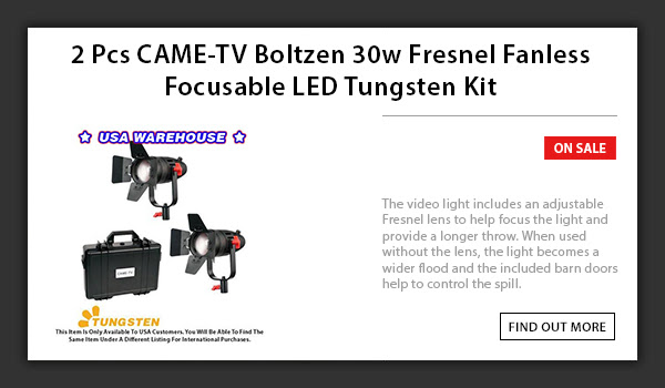CAME-TV 2pcs Boltzen 30w LED Light