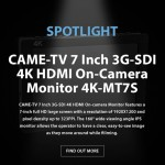 CAME-TV - Spotlight 7 Inch 3G-SDI 4K HDMI On-Camera Monitor