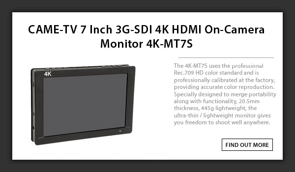 CAME-TV 4k HDMI On Camera Monitor