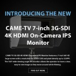 CAME-TV – New 7-Inch IPS Monitor & Optimus Sale
