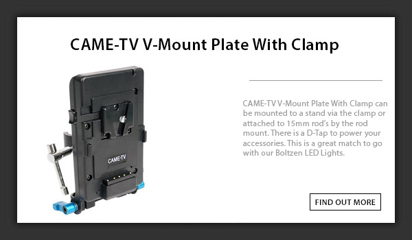 CTV V-Mount Plate With Clamp