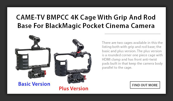 bmpcc 4k cage rod base