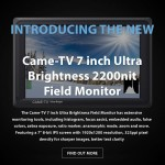 CAME-TV – New 7 inch Ultra Brightness 2200nit Field Monitor