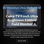 CAME-TV - New 7 inch Ultra Brightness 2200nit Field Monitor