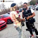 INSTAGRAM: @djbrucebruce posted this pic from a recent #musicvideo shoot where they used our #Cametv #Stabilzer! #cametvstabilizer #red #reddigitalcinema #onset