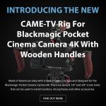 CAME-TV - New Product - Rig For Blackmagic Pocket Cinema Camera 4K