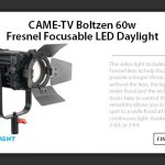 CAME-TV - Boltzen Fresnel LED 60w Daylight and Perseus RGBDT P-20R Super Sale!