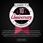 CAME-TV - 10th Anniversary Sellabration Monitors