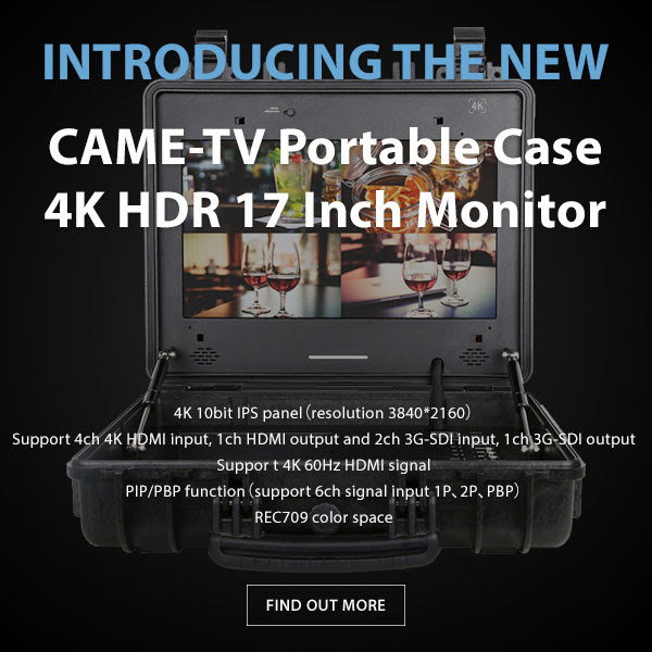 CAME-TV 4k HDR 17inch Monitor