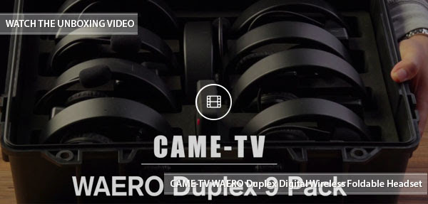 CAME-TV Waero Duplex 9 pack video