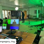 INSTAGRAM: Awesome green screen lighting setup using our CAME-TV Andromeda Slim Tube RGB lights to add some extra green! 📸: @bengregory_ring ••• Interesting green screen shoot today!Lighting the screen with a new RGB LED rig. Working with @fanaticfilms & @glynallen.  #cametv #ledlight #andromeda #tubelight #rgb #led #greenscreen #lighting