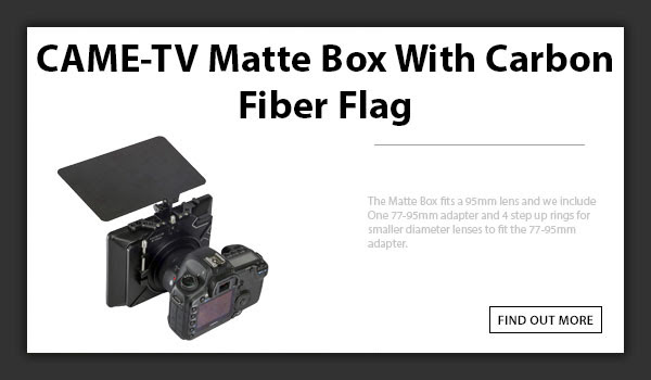 CTV Matte Box With Carbon Fiber Flag