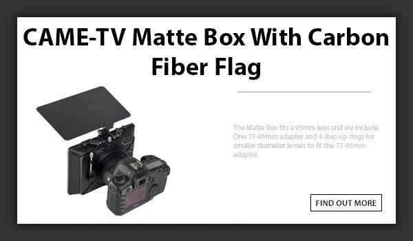 CTV Matte Box With Carbon Fiber Flag