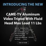 CAME-TV - New - Aluminum Video Tripod With Fluid Head